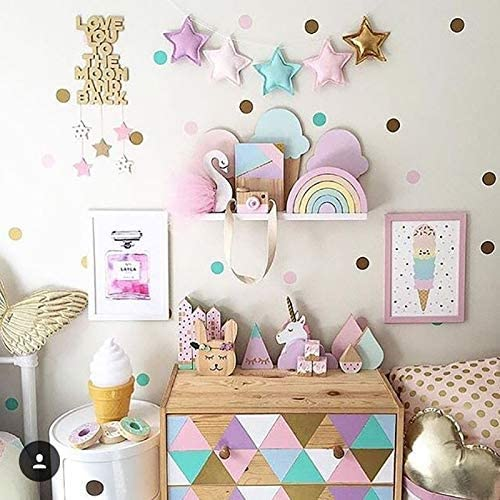 Amazon Com Nexxa Dots Wall Stickers For Kids Room Baby Home Decoration Children Wall Decals Kids Wall Sticker Kids Home Decor Murals Wallpaper Home Kitchen