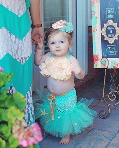 Baby Toddler Mermaid Birthday Outfit Costume Girl