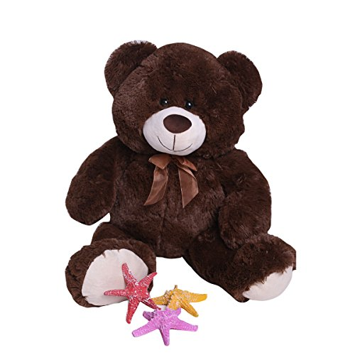 Super Soft Stuffed Animal Huge Giant Cuddly Teddy Bear Collection Gift Decoration 36 Inches Chacolate By HollyHOME