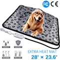 wangstar Pet Heating Pad, Warm Pet Heat Mat Dogs Cats with Chew Resistant Cord, Waterproof Electric Heating Pad from wangstar