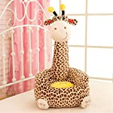 Super Cute Plush Toy Bean Bag Chair Seat for Children,Cute Animal Plush Soft Sofa Seat,Cartoon Tatami Chairs,Birthday Gifts for Boys and Girls (giraffe)Brown B