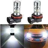 led h12 headlight bulb - Aquiver 2Pcs 360 Degree High Power H8 H12 2835 SMD-12 LED Fog Light Headlight Driving DRL Car Light Lamp Bulbs