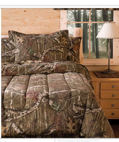 Mossy Oak Camouflage Boys Hunting Cabin Full Comforter &