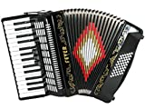 Fever F3048-BK Piano Accordion with 3 Switches, 30 Keys and 48 Bass, Black