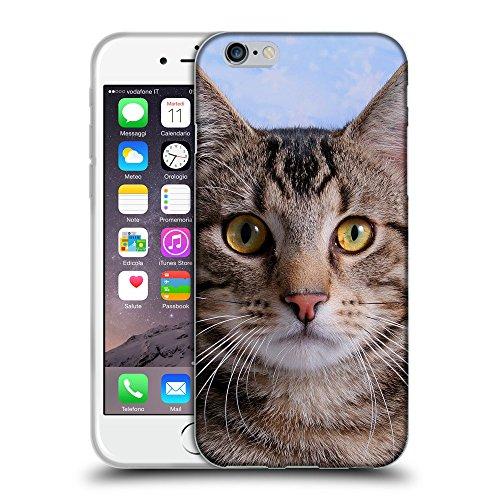 """Just Phone Cases Coque de Protection TPU Silicone Case pour // V00004173 Chat a une image de logo // Apple iPhone 6 6S 6G PLUS 5.5"""""""