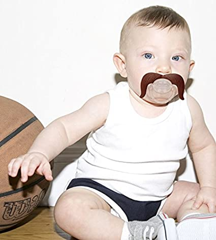 Funny Gift for Newborn /& Baby Shower BPA Free FCTRY Hipsterkid Mustachifier Infant /& Toddler Orthodontic Mustache Pacifier