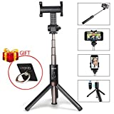 Selfie Stick, MAONO Integrated Foldable Tripod with...
