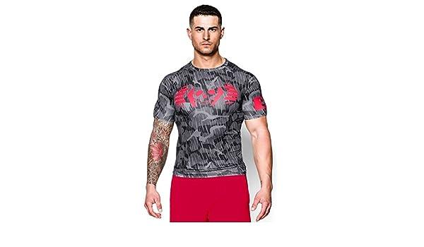 Amazon.com  Under Armour Men s UA Combine Training Skull Bolt Compression T-Shirt  Small Black  Sports   Outdoors 0b7a80fe3