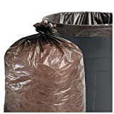 Stout Total Recycled Content Trash Bags, 56 Gallons, 1.5 Mil, 43 x 49, Brown, 100/Carton (T4349B15) by Stout