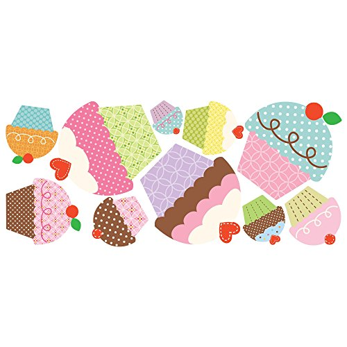 RoomMates Happi Cupcake Peel and Stick Giant Wall - Wall Stickers Cupcake