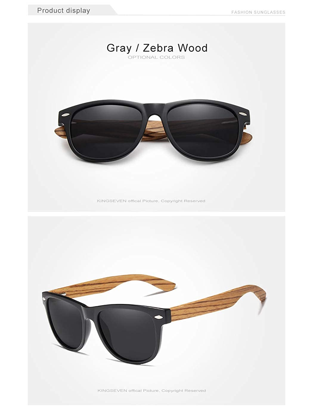 Polarized Square Sunglasses Men Women Mirror Lens UV400 Protection Driving Sun Glasses black
