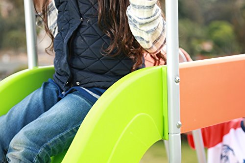 SLIDEWHIZZER Outdoor Play Set Kids Slide: 10 ft Freestanding Climber, Swingsets, Playground Jungle Gyms Kids Love – Above Ground Pool Slide for Summer Backyard by SLIDEWHIZZER (Image #6)