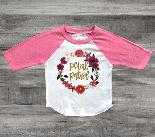 Personalized Petal Shirt Monogrammed Flower Girl Gift Flower Girl (Petal Apparel)