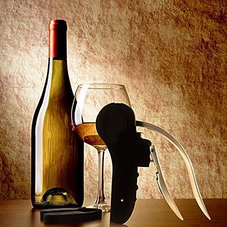 Katigan Kit Sacacorchos de Abridor de Botellas de Vino - Sacacorchos de AleacióN de Zinc, Saca Corchos Sacacorchos Vertical Compacto Vino