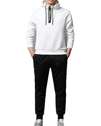 Chándal para Hombre, Conjuntos De Top Y Pantalones Blanco M ...