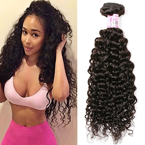 Beauty Forever Brazilian Curly Hair 1 Bundle 95-100g Hair Weave 100% Unprocessed Human Virgin Hair Extensions Natural Color Can Be Dyed And Bleached (18 inch)