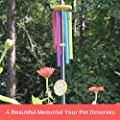 "Humane Goods 25"" Pet Memorial Rainbow Bridge Wind Chime - Pet Remembrance Gift to Honor and Remember a Dog, Cat, or Other Pet That has Crossed The Rainbow Bridge"