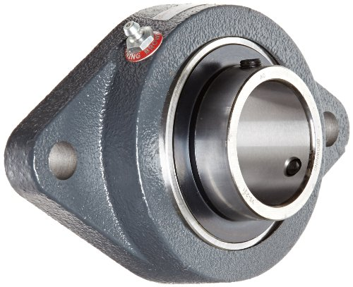 Browning VF2S-231 Normal-Duty Flange Unit, 2 Bolt, Setscrew Lock, Regreasable, Contact and Flinger Seal, Cast Iron, Inch, 1-15/16