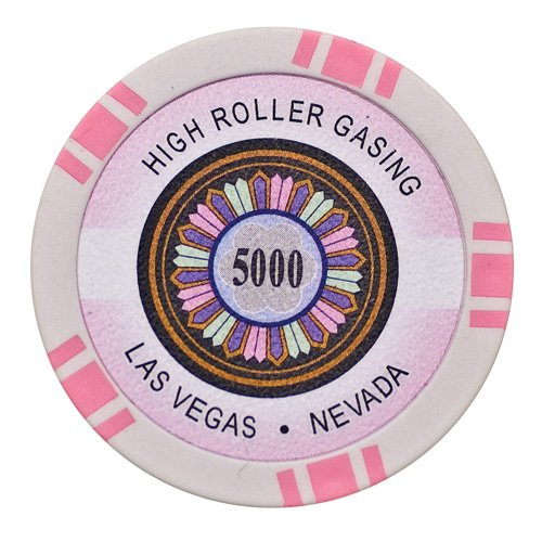 Lion Games & Gifts Europe 11.5 g High Roller Value 5000 Chip (Pink) ()