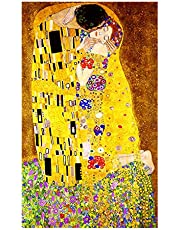 Classic Artist Gustav Klimt kiss Abstract Painting on Canvas Print Poster Modern Art Wall Pictures For Living Room
