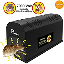 Electronic Rat Trap, Mouse Rodent Traps Electronic,High Voltage Emitting,Effective and Powerful killer for rat,squirrels Mice and similar rodent Electronic Rodent traps【2018 upgraded】Humane and Clean