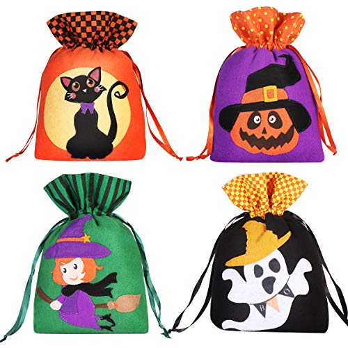 Cute Halloween Gift Bags (Hemoton 8PCS Halloween Candy BagsTrick or Treating Bags Gift Treat Bags Drawstring Halloween Bags for Favors,Decorations,Cute Pumpkin, Ghost, Witch,)