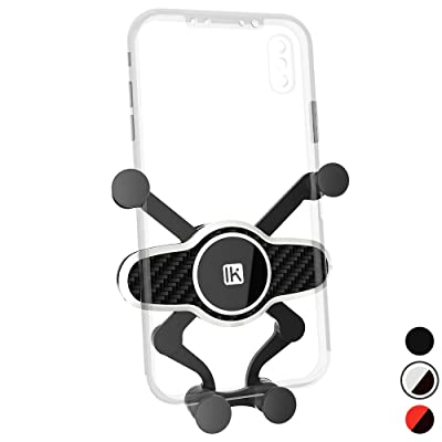 InnKoo Car Phone Mount, Air Vent Cell Phone Holder Cradle for Car Gravity Adjustable, Compatible with iPhone 11 Pro 11 Max Xs Xr X 8 7 6 5 Plus Samsung Galaxy S10+ S10e S9 Google Pixel (White)