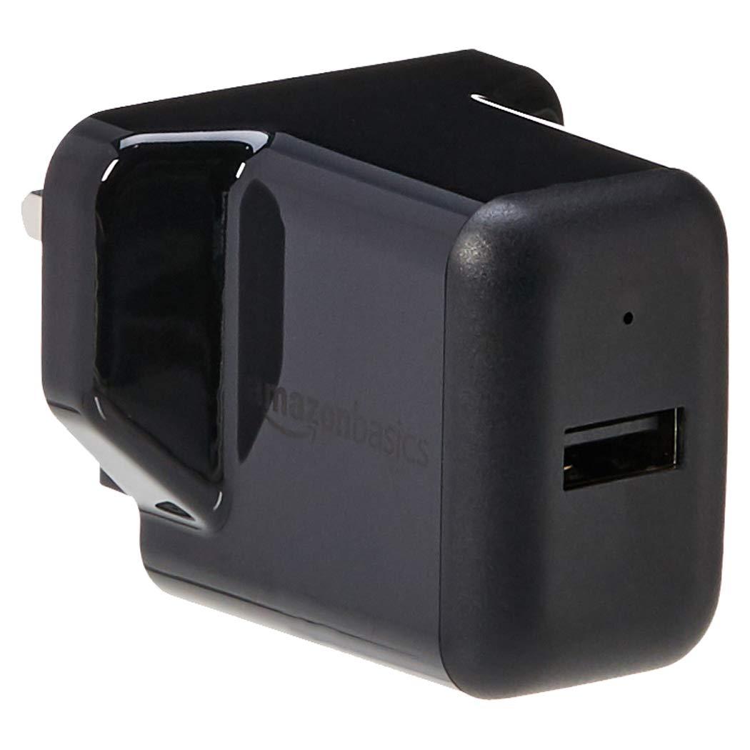 2.4 Amp Black Basics One-Port USB Wall Charger