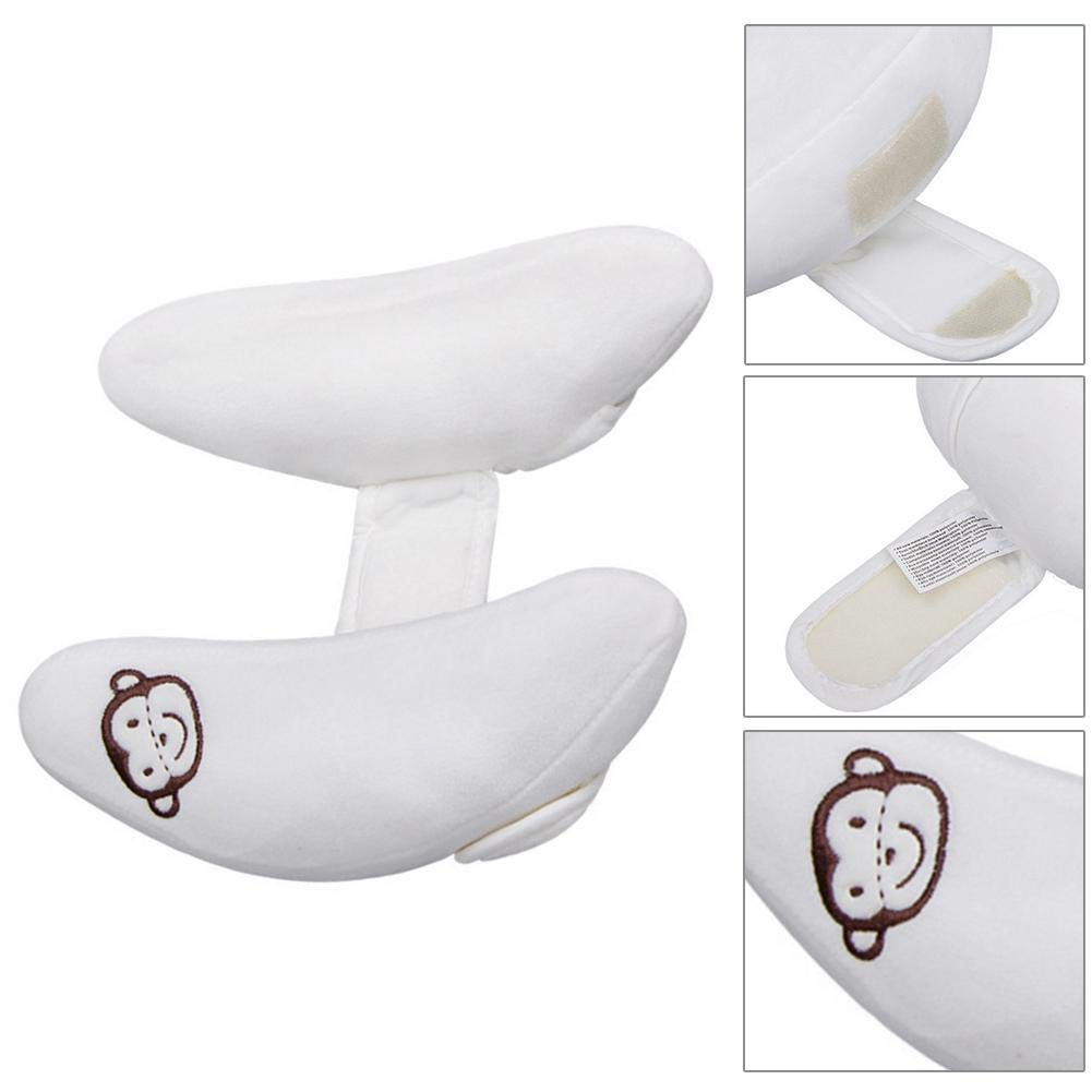 Baby Pillow Prevents Flat Head Protecting Cervical Comfortable and Soft Banana Shape Pillow Prevent Leaning Head Baby Pillow for Safety Seat Protect Your Babys Fragile Head and Neck