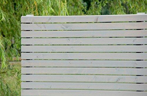 Pflanzkübel Holz lang mit Sichtschutz, Transparent Geölt Grau ...