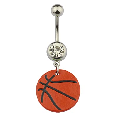 Amazon Com Hongtu Implant Sports Body Piercing Belly Dangle Navel