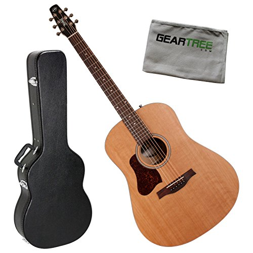 Seagull 046423 S6 Original Left-Handed Acoustic Guitar Bundle w/Case