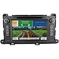 Toyota Sienna 2011 2012 2013 2014 GPS Navigation Radio System, 8 Inch Touchscreen Car Stereo Bluetooth In-dash Navigation Supports MirrorLink , CD, DVD, AUX, SD/USB, FM/AM Car Multimedia Player