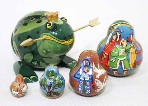 The Frog Princess Russian Nesting Doll 5pc./4