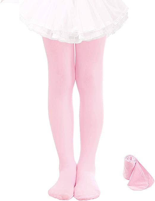 Girl Kid Children Ballet Dance Pink Stockings Pantyhose Tights Opaque 5-10years