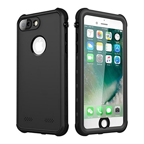 Waterproof Case for iPhone 7 Plus/iPhone 8 Plus, iThrough Underwater Case for 7 Plus/5.5, Dustproof, Snow Proof, Shockproof, Heavy Duty Protective Carrying Case Cover for 7 Plus/8 Plus