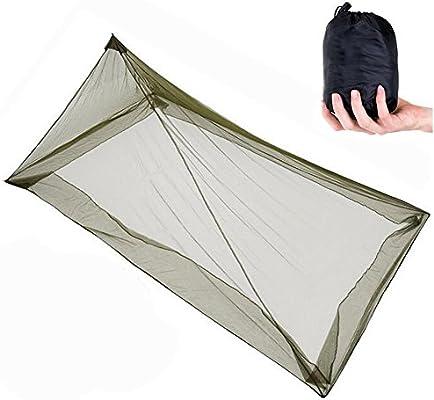 Mosquiteros al aire libre, ANGTUO solo triángulo mosquitera para acampar (220 * 120 * 100 cm)