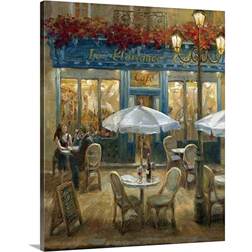 "Paris Cafe I Canvas Wall Art Print, 16""x20""x1.25"""