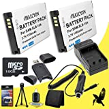Two Halcyon 1350 mAH Lithium Ion Replacement Battery and Charger Kit + 16GB microSD Memory Card + Deluxe Starter Kit + Memory Card Wallet + SDHC Card USB Reader for Samsung WB250F Smart Digital Camera and Samsung SLB-10A