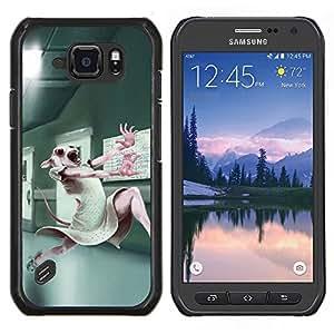 """Be-Star Único Patrón Plástico Duro Fundas Cover Cubre Hard Case Cover Para Samsung Galaxy S6 active / SM-G890 (NOT S6) ( Pruebas con animales de laboratorio lindo del conejo de conejito blanco"""" )"""
