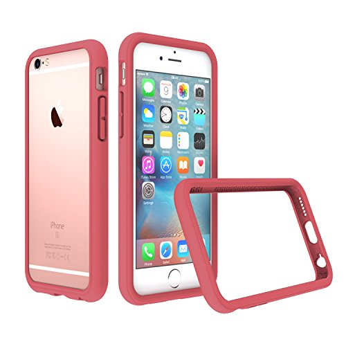 (RhinoShield Bumper Case for iPhone 6 / iPhone 6S [NOT Plus] | [CrashGuard] | Shock Absorbent Slim Design Protective Cover [3.5 M / 11ft Drop Protection] - Coral Pink)