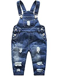 Baby & Little Boys/Girls Stone Washed Ripped Soft Denim...