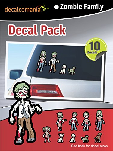 Zombie Family Stickers Kit - Includes 10 Stickers