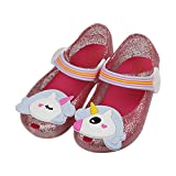 iFANS Girls Cute Shiny Unicorn Mary Jane Princess Flat for Toddler Little Kid