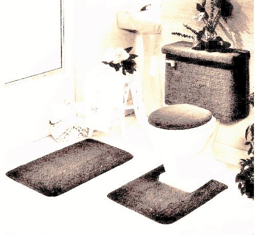 Madison Industries 5 Piece Rug and Toilet Tank Set, (5 Piece Tank)
