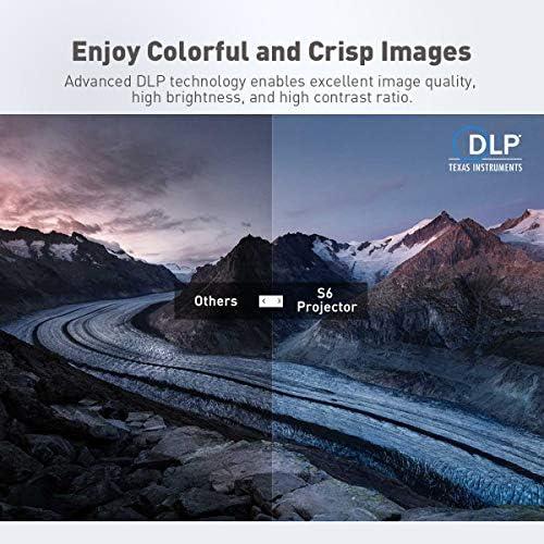 Exquizon s6 Mini proyector Cubo dlp Bolsillo 1080p Apoyo HD Pico ...