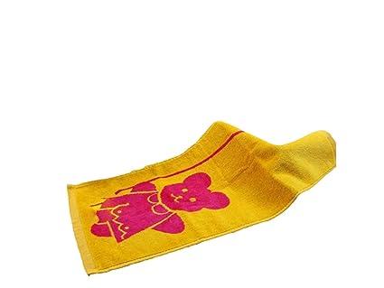 kxrzu Gracioso Cartoon Bear Kid Wash Toalla para la cara Toalla absorbente Limpieza de toalla cuadrada
