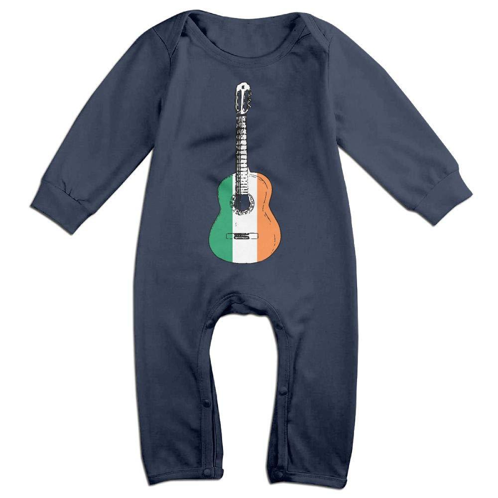 Newborn Kids Bodysuits Irish Flag Guitar Art Kid Pajamas