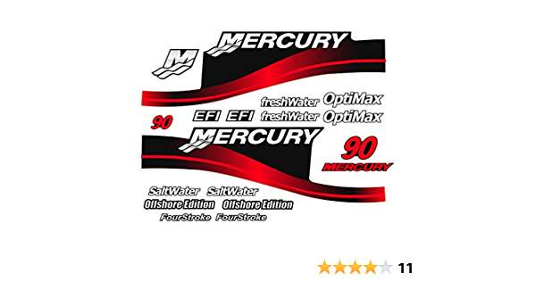 Decals, Magnets & Stickers Mercury Outboard Graphics Kit Decal ...