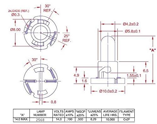 amazon com: instrument cluster bulb, 10 pack - replaces navistar 2506796c1:  industrial & scientific